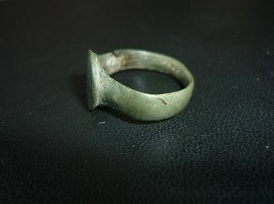 Antique Ottoman Bronze Ring Green Patina 18 Century 3