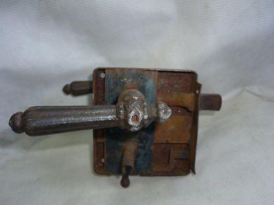 Antique Castle Patent CEF Iron Door Lock 19 Century 3