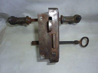 Antique Castle Patent CEF Iron Door Lock 19 Century 4
