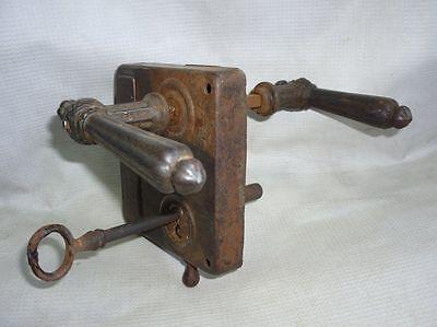 Antique Castle Patent CEF Iron Door Lock 19 Century 2