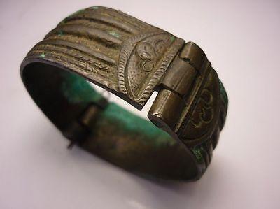 Antique Ottoman Empire Brass Bracelet 18 Century 4