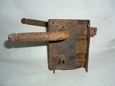 Antique Bulgarian Handforged Iron Door Lock 19 Century 2