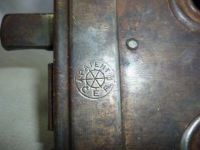 Antique Castle Patent CEF Iron Door Lock 19 Century 6