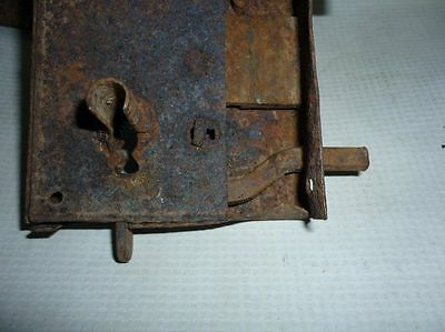 Antique Bulgarian Handforged Iron Door Lock 19 Century 5