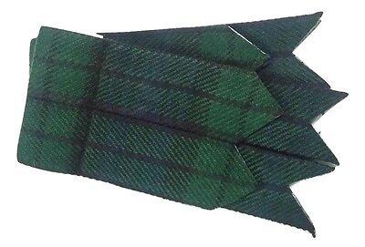 New Mens Kilt Flashes Black Watch Tartan/Scottish Kilt Hose Sock Flashes Tartans 2