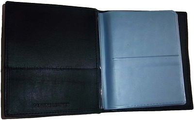 New 40 Card Holder Leather Business Cards ID Case Photo holder; ATM Cards BNWT 3