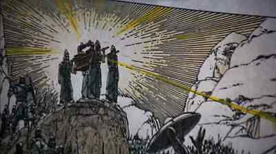 RAIDERS OF THE LOST ARK Ralph McQuarrie ARK OF COVENANT Art Print INDIANA JONES! 4