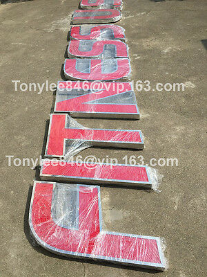 Channel letter, made of stainless steel and arylic, 15-inch tall, customized siz 5