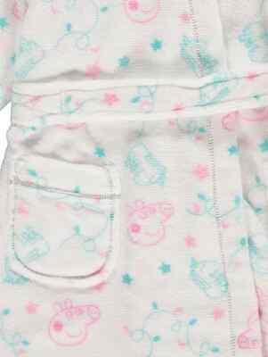 Kids Girls Peppa Pig Pyjamas and Dressing Gown 3-piece Set Size 1-6 years Pink 3