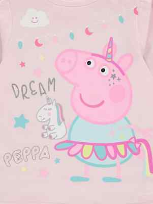 Kids Girls Peppa Pig Pyjamas and Dressing Gown 3-piece Set Size 1-6 years Pink 5