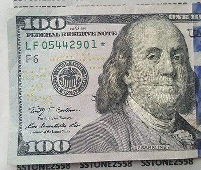 1 Of 6 Star 2009 A 100 Bill American Hundred Dollar Federal Reserve Note Usa