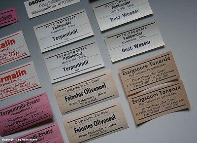 26 x Etiketten für Apotheken Flaschen aus SOEST um 1900-1970 5