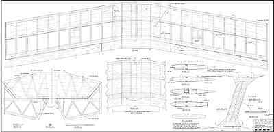 Giant Scale RC AIrplane PDF  Plans on a CD  Ultimate Biplane 63 Inch Wing
