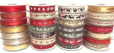 Selection Berisfords Christmas Ribbon Craft Gift Wrapping Christmas Ribbons 6