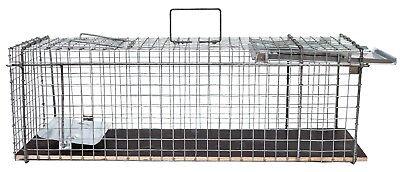 80x28x28cm große Marderfalle Lebendfalle Kaninchenfalle Tierfalle Drahtfalle 2