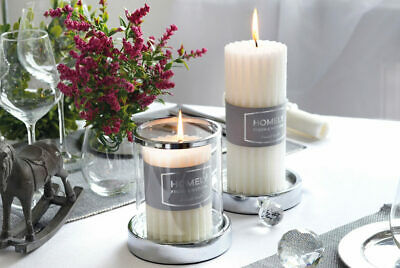 Provence Forget-Me-Not Pillar Candle Home Decor Wedding Gift Long Time Burning