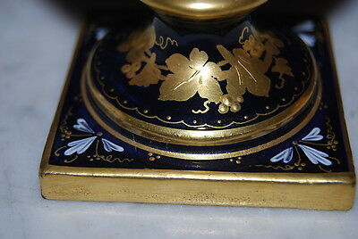 Superb Old Royal Vienna Beehive Heavy Gold Painted Cherubs By Yager Cabinet Urn 9