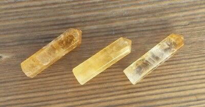 Natural Citrine Single Terminated Gemstone Crystal Pencil Point (One) 4