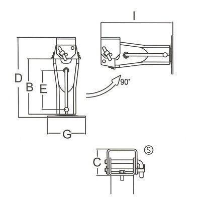 Stützlast mit Untersetzungsgetriebe Simol Stützfuß mechanisch 4000 kg