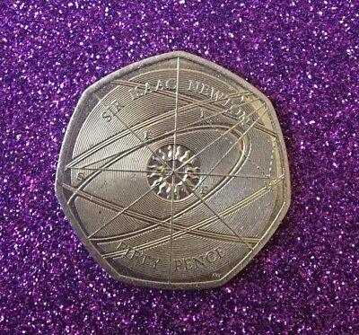 2017 Circulated Sir Issac Newton 50P Coin 2