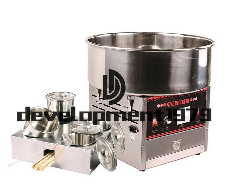 Commercial Upgrade Section Electric Automatic Cotton Candy Machine 1000W 220V 2
