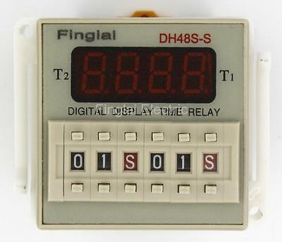 DH48S-S AC 220V repeat cycle SPDT time relay with socket DH48S series 220V M9
