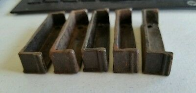 Set of 5 of 3 inch Cast Iron Door Rim Lock Keeper  Catch Strike Plate (#2)