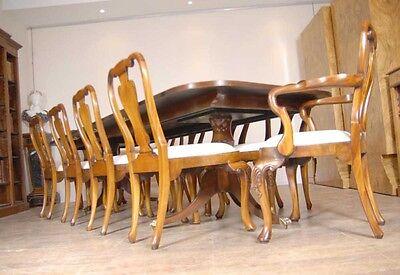 10 English Queen Anne Walnut Dining Chairs Ann Chair 12
