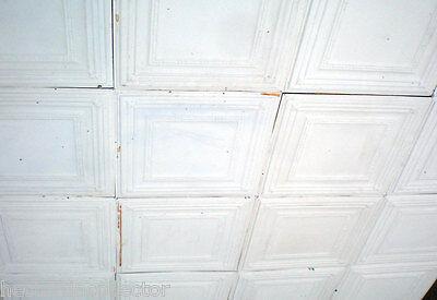 10 pcs Vintage Ceiling Tin Tile Simple Elegant Chic Ceiling Fleur De Li Canvas