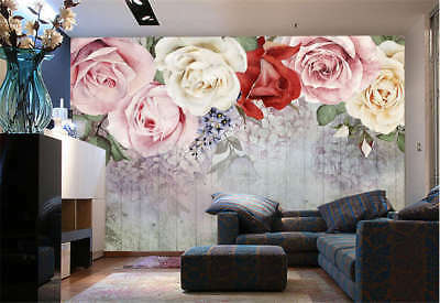 Sober Coherent Rose 3D Full Wall Mural Photo Wallpaper Printing Home Kids Decor