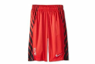 new concept a9e6e a39ae ... NIKE Elite Power Up Basketball Shorts Red   Black 823901 Youth   Boys  Size Large 3