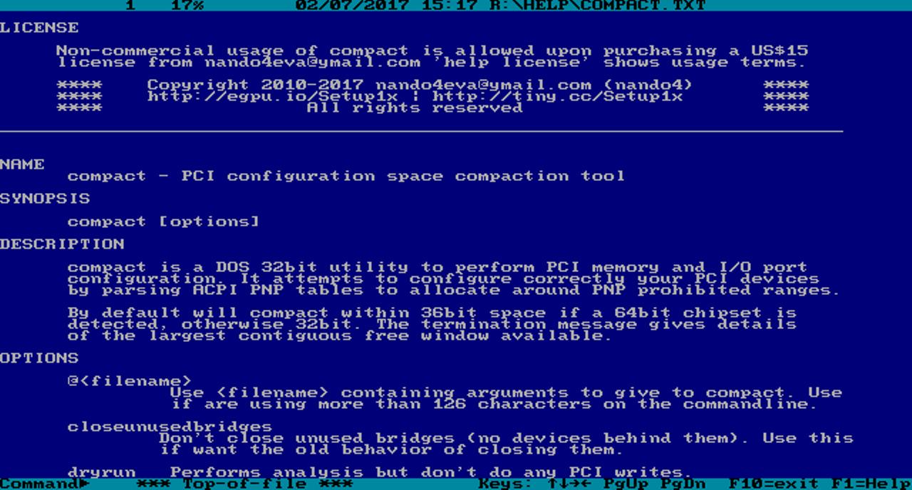 software by nando4 DIY eGPU Setup 1.35 was Setup 1.x