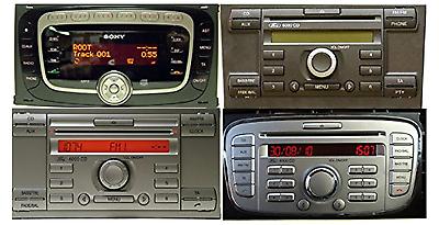 CAVO AUX Mp3 Ford Fiesta Focus Fusion C-Max S-Max con TASTO AUX a VISTA (2004>)