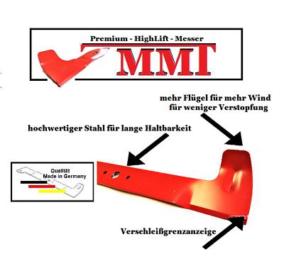 Messersatz für Viking MT 740 745 780 785 Twin Cut  mit 102 cm Mähdeck  2 Messer