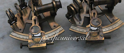 "2PCS 4"" BRASS SEXTANT Beautiful Solid Brass Marine Nautical ANTIQUE SEXTANT 2"