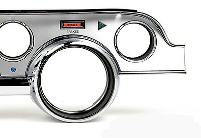 NEW 1967 Ford Mustang DASH TRIM KIT WITH Bezel Brushed ALUMINUM Set Kit