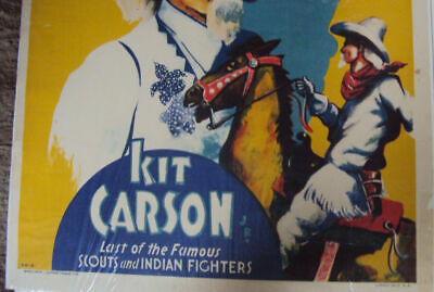 Kit Carson Parker and Watts Circus Horse Cowboy West Poster Repro FREE SHIPPING