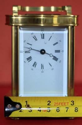 Vintage French L'epee 8 Day Doucine Serpentine Timepiece Carriage Clock 3