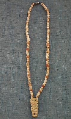 Antique Pre-Columbian 500-1500 A.D. Tairona Necklace Pendant With Priest Figure 2