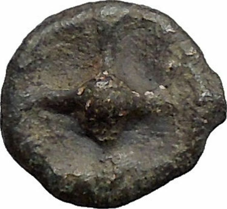 ISTROS Thrace 500BC Wheel Money Authentic Ancient Greek Coin BLACK SEA i48208 2