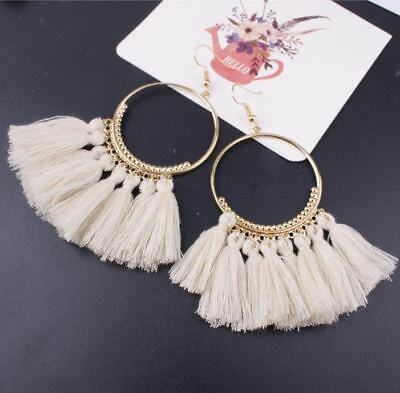Fashion Women Bohemian Ethnic Tassel Dangle Hook Drop Boho Earring Jewelry AU 7