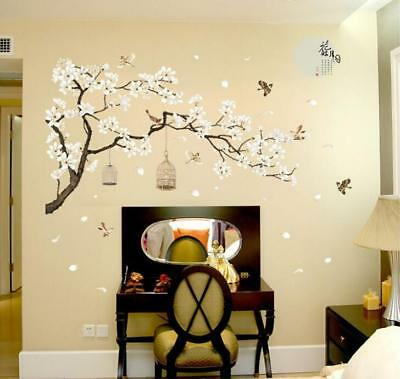 Wall Sticker XXL Peach Blossom Birds Wall Tattoo Wall Art Decal Home Room Decor