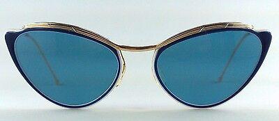 Eye Amor 1950s Blue Blau Women's Sunglasses Vintage Sol Solamor Cat Rockabilly ALR354jq