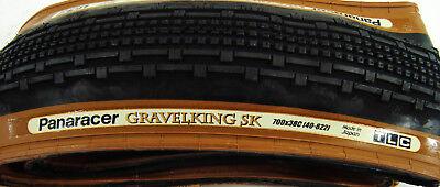Panaracer Gravel King SK Knobby Tre Brownwall 700 38 43 TLC Bike Tire GravelKing