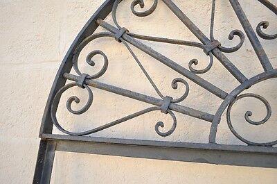 Vintage Ornate Wrought Iron Door Arch Frame Patio Garden Element B 98 x 39 5