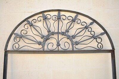 Vintage Ornate Wrought Iron Door Arch Frame Patio Garden Element D 92 x 42 2