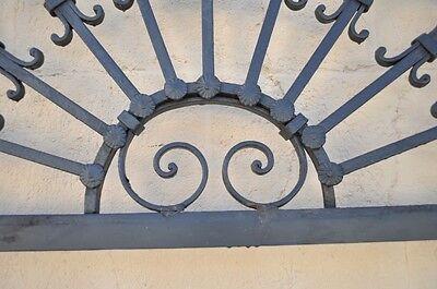 Vintage Ornate Wrought Iron Door Arch Frame Patio Garden Element C 99 x 41 3