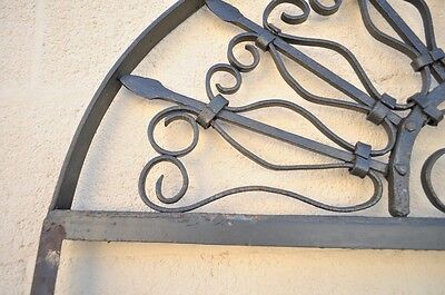 Vintage Ornate Wrought Iron Door Arch Frame Patio Garden Element D 92 x 42 7