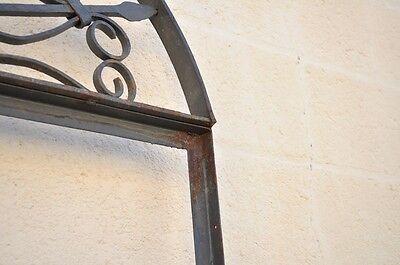 Vintage Ornate Wrought Iron Door Arch Frame Patio Garden Element D 92 x 42 6