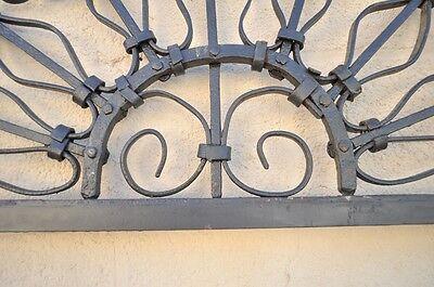 Vintage Ornate Wrought Iron Door Arch Frame Patio Garden Element D 92 x 42 4